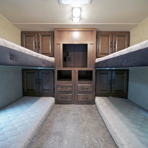 Travel Trailers with Bunk Beds. RV Sleeping Area.